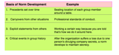 FYI: Norms-How They Develop